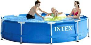 INTEX 28200 Garten Swimming-Pool 305x76cm Metallrahmen Schwimmbecken *NEU*