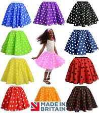 Wholesale Girls Rock n Roll Full Circle Polka Dot Skirt 50's Fancy Dress Costume