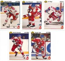 1991-92 UD Upper Deck Czechoslovakia Canada Cup Complete Team Set (5)