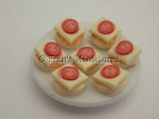 Dolls House Cibo: piatto di Cracker con Formaggio e pomodoro-by Fran