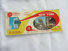 ancien carnet souvenir album NEW YORK 10 cartes postales miniatures postcards