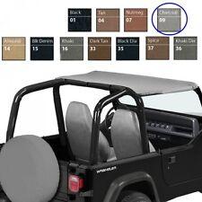 Jeep Wrangler YJ Bikini Top Strapless Style grau Charcoal Denim Bestop 92-95