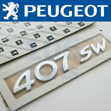 NUEVOS originales PEUGEOT 407 SW (finca SPORTWAGON) plata distintivo 175mm
