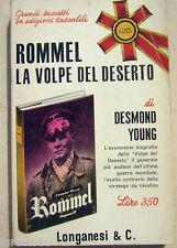Young: Rommel la volpe del deserto - ed. Longanesi pocket 1965 WW2