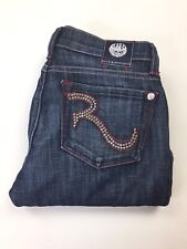 Victoria Beckham Rock & Republic Womens Blue Flared Jeans Size 25