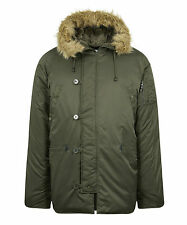 N3B Vintage Parka Snorkel Cold Weather Military Green Black Jacket Sizes S-5XL