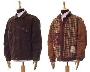 Mens MARLBORO Classics Trucker Jacket Coat Brown Size 2XL