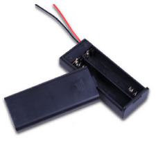 2PCS Battery Box Holder for 2x1.5V AA Batteries w Cover On/Off Switch