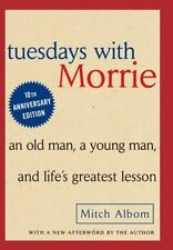 Tuesdays with Morrie by Mitch Albom a Hardcover book FREE USA SHIPPING