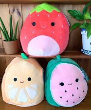 "BNWT 30cm 12"" Squishmallow Fruit Squad Orange Strawberry"