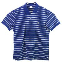 Brooks Brothers 1818 Blue Yellow Stripped Short Sleeve Performance Polo Men's XL