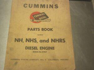 vintage commins parts book diesel engine 1951