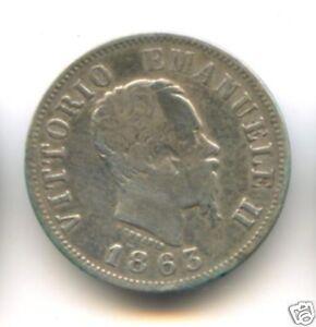 Italy Vittorio Emanuele II (1861-1878) 50 Centesimi 1863 Milan