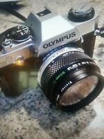 Olympus OMG 35mm SLR Film Camera 1983 With Manual And Case