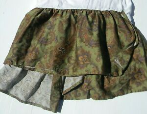 "Chaps Ralph Lauren Beekman Place Queen Bedskirt Bed Skirt Green Paisley 14"" drop"