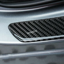 4 pcs Carbon Fiber Car Door Sill Scuff Plate Cover Anti Scratch fits Bmw Vehicle