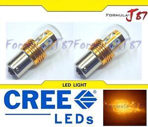 LED Light 25W 1156 Amber Orange Two Bulbs Rear Turn Signal Replace Stock Lamp OE