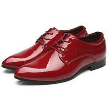 Men's Pointed Toe Business Shoes Oxford Patent Leather Flats Party Dress Wedding