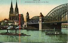 Cöln am Rhein Hohenzollernbruke Blick auf den Dom Germany unused 1920s postcard