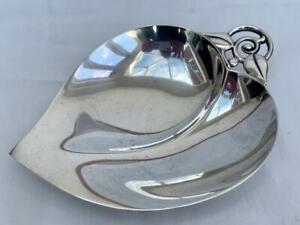 Fine Antique Tiffany & Co Sterling Silver Leaf Form Dish.