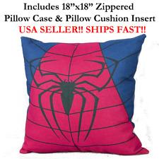 "18x18 18"" SPIDERMAN SPIDER-MAN Zipper Throw Pillow Case Cushion Disney Marvel DC"