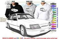 84-86 VK GROUP A COMMODORE HOODIE ILLUSTRATED CLASSIC RETRO MUSCLE SPORTS CAR