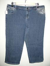 Yvos Size 12 (36X20) Capri/Cropped Jeans Stretch Lace Print 1-7349