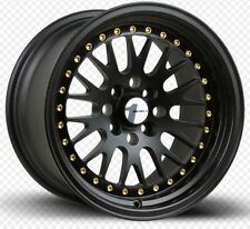 One Avid1 AV12 15X8 Rims 4x100 +25 Black Wheel Rim