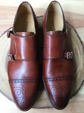 Magnanni 'Villar 2' Double Monk Strap Cognac Brown Leather Size 11.5 M $435 *
