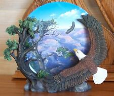 Wings of Freedom Coming Home Plate Eagle Mountains 3D + Coa Very Striking!