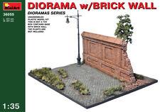 Model Kit Diorama min36055-Miniart 1:35 - Diorama Con Pared De Ladrillos