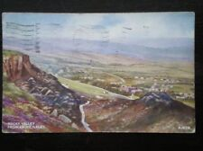 POSTCARD YORKSHIRE ROCKY VALLEY FROM ABOVE ILKEY