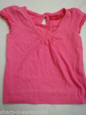 ☆ DEBENHAMS TIGERLILY Girls Pink Short Sleeved Cotton T-Shirt Top Age 3 years ☆