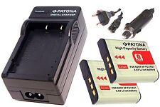 AKKU Ladegerät und 2 * Akku Batterie Accu im SET für Sony CyberShot DSC-W190