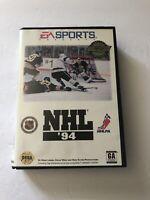 NHL 94 Sega Genesis COMPLETE EA Sports *Bad Box* Tested & Working