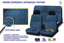 Fodere Coprisedili sedile auto per vecchia Fiat Panda 750 blu + nero set complet