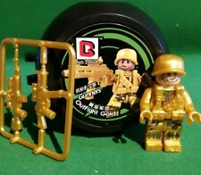 militaire Us gold neuf. military Infanterie Army pour lego top