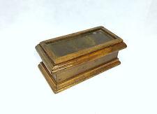 Estampillas caja Francia / Suiza um 1900 Latón Sol