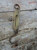 Antique Salter Pocket Balance Brass Hanging Scales 25LB Fishing Luggage