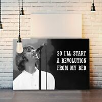 OASIS LIAM GALLAGHER QUOTE REVOLUTION CANVAS WALL ART PRINT ARTWORK DEEP FRAMED