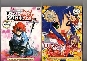 PEACE MAKER Vol.1-24 End + LUCKY STAR OVA Anime Serie DVD