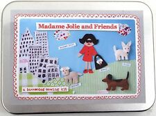 Buttonbag Madame Jolie and Friends Childrens Sewing Kit Brooches Dogs Sew Felt