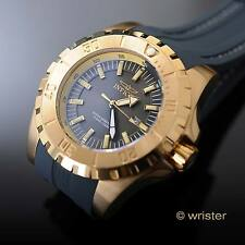 Invicta Pro Diver Gold IP Stitched Poly Strap Charcoal Gray Dial 52mm Mens Watch