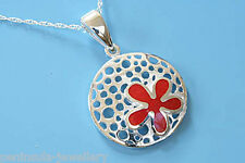 """Sterling Silver Coral Pendant and 18"""" Chain, Gift Boxed Necklace Christmas Gift"""