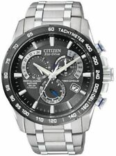 Citizen AT4010-50E Mens Watch Titanium Black Dial Eco-Drive Chronograph
