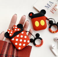 For Apple Airpods Shockproof Disney Silicon slim Skin Charging case Rubber Cover