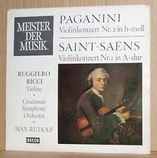 LP Ruggiero Ricci  Paganini Saint-Saens Violinkonzert  CPO Max Rudolf  Decca