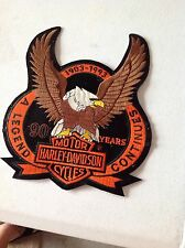 Harley Davidson extra large 90 yearseagle upwing bar and sheild  back patch