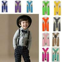 Kids Suspenders Adjustable X-back Braces Elastic Suspender Children Belt Straps