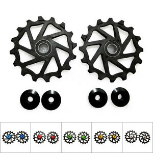 Pair Rubber Seal Two Seals 16T Ceramic Derailleur Pulley/Jockey For Bicycle SRAM